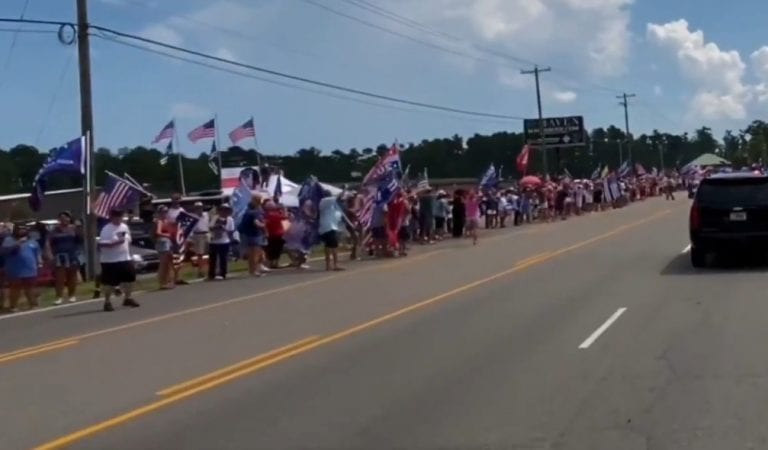 Amazing: Crowds Line Up in the Streets Welcoming Trump to Wilmington, N.C.