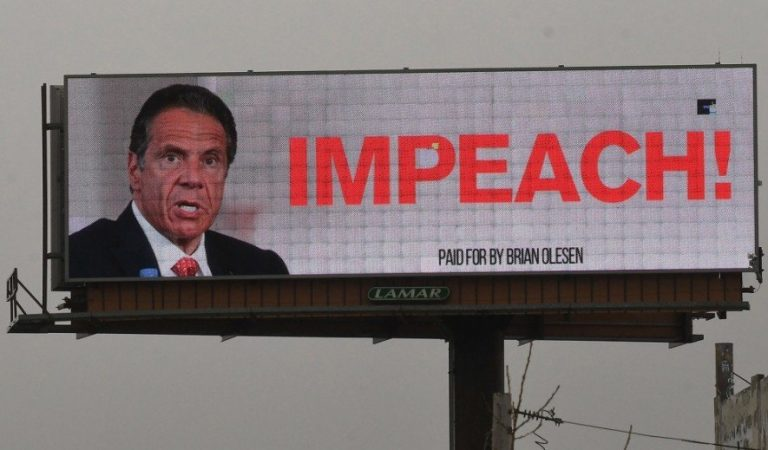 Impeach Cuomo Billboards Are Being Displayed In New York