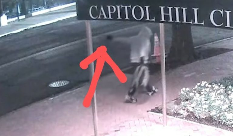 FBI Released Video Of DC Pipe Bomb Suspect Giving A Hand Signal To A Capitol Police Officer
